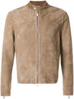 Eleventy fitted biker jacket