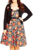City Chic 'Cherry Bomb' Cardigan (Plus Size)