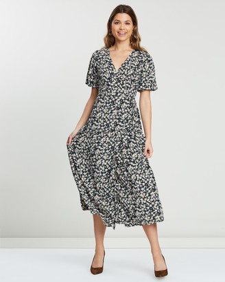 Atmos & Here Porcia Wrap Front Dress