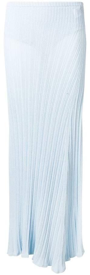 Jacquemus side slit knit skirt