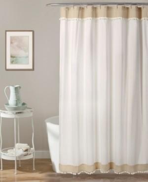 """Lush Decor Adelyn Pom Pom 72"""" x 72"""" Shower Curtain Bedding"""