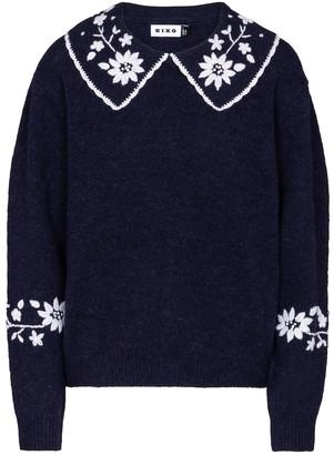 Rixo Lula embroidered wool sweater