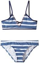 Splendid Littles Chambray Cottage Bralette Retro Pants Girl's Swimwear Sets