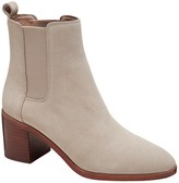 Banana Republic Suede Block Heel Chelsea Boot