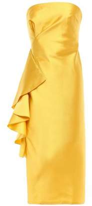 Sachin + Babi Strapless Ruffled Satin-twill Midi Dress