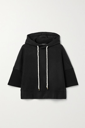 Twenty Montreal Pine Cropped Fleece Hoodie - Black