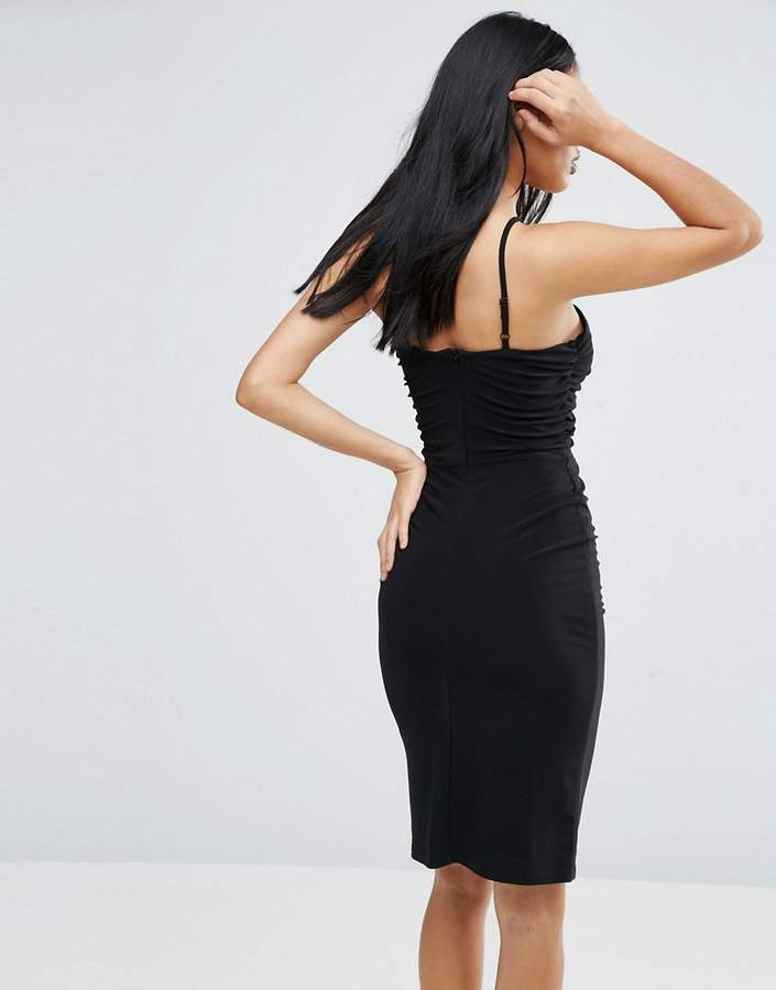 Love Ruched Dress With Cut Out Detail