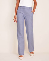 Ann Taylor The Petite Straight Pant in Linen Twill - Curvy Fit