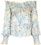 Alice McCall flora print off-shoulder blouse
