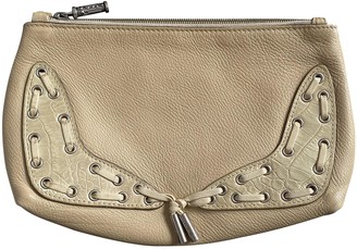 Versace Beige Leather Clutch bags