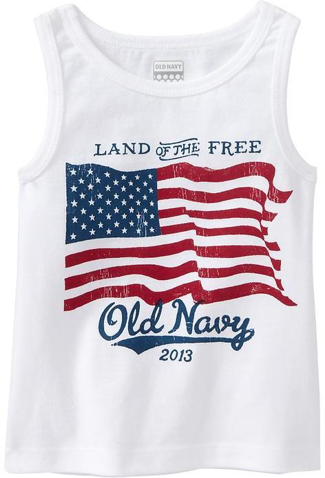"""Old Navy """"2013"""" Flag-Graphic Tanks for Baby"""