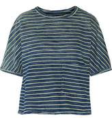 Current/Elliott The Painter Striped Cotton Top