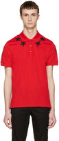 Givenchy Red Star Patch Polo