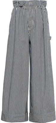 Miu Miu Striped Wide Leg Jeans