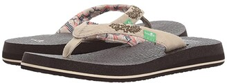 Sanuk Yoga Paradise 2 (Black Paradise Palms) Women's Sandals