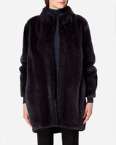 N.Peal Mink Fur Flared Back Coat