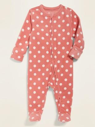 Old Navy Unisex Micro Fleece Footie Pajama One-Piece for Baby
