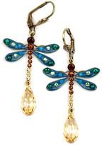 Swarovski Anne Koplik Crystal Dragonfly Earrings