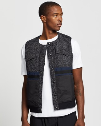 White Mountaineering Leopard Printed Padded Vest