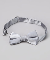 American Exchange Boys' Bow Ties - American Exchange Silver Bow Tie