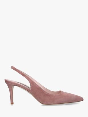 Sarah Jessica Parker Simplicity Suede Court Shoe, Mink