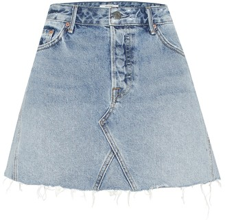 GRLFRND The Eva denim miniskirt