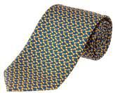 Brooks Brothers Yellow Bowtie Print Silk Tie.