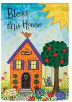 """""""Bless This House"""" Indoor / Outdoor Garden Flag"""