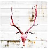 "Parvez Taj Hot Temper White Wood Wall Art - 32\"" x 32\"""