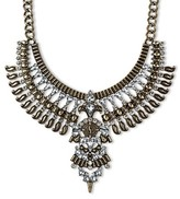 Target Distributed Women's Bib Necklace With Stones-Gold