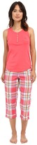 Lauren Ralph Lauren Knit Top Woven Capri PJ Set