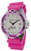 Momentum Women's Quartz Stainless Steel and Rubber Diving Watch, Color:Pink (Model: 1M-DN11LM1M)