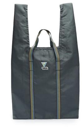 MAISON KITSUNÉ Ripstop Xl Triangle Fox-logo Tote Bag - Grey