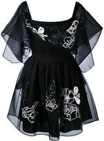 Fendi off the shoulder embroidered floral dress