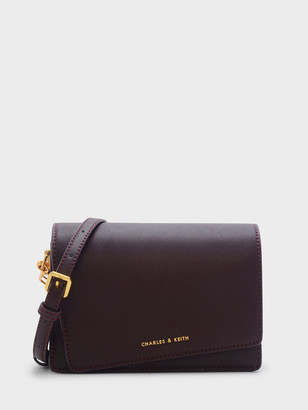 Charles & Keith Asymmetric Front Flap Bag
