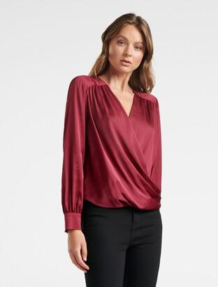 Ever New Sandra Gathered Yoke Wrap Shirt
