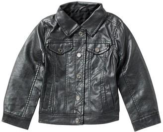 Urban Republic Metallic Faux Leather Trucker Jacket (Little Girls)