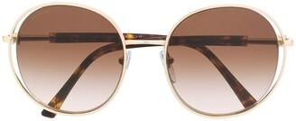 Bvlgari Oversized Round Frame Sunglasses