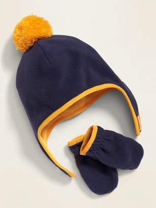 Old Navy Performance Fleece Pom-Pom Hat and Mittens Set for Toddler Boys