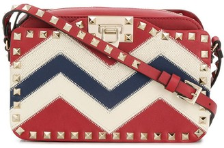 Valentino Rockstud striped crossbody