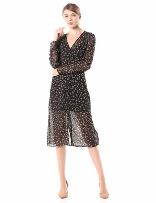 The Fifth Label Women's Current Long Sleeve MIDI WRAP Dress