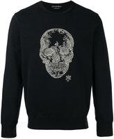 Alexander McQueen skull embellished sweatshirt - men - Cotton/Plastic - S
