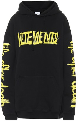 Vetements Logo cotton-blend hoodie