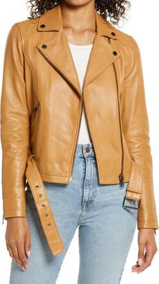 Rachel Parcell Leather Moto Jacket