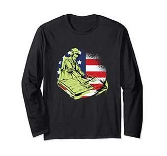 Carpenter USA Flag Fourth of July Carpentry Gift Long Sleeve T-Shirt