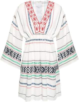 Joie Embroidered Cotton Mini Dress