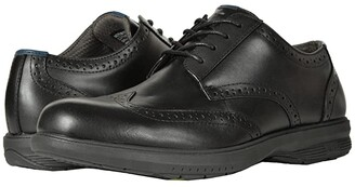 Nunn Bush Maclin Street Wing Tip Oxford with KORE Slip Resistant Walking Comfort Technology (Black) Men's Lace Up Wing Tip Shoes