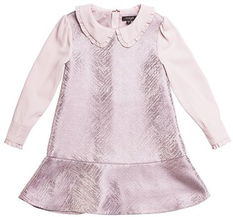 Imoga Jacquard Woven Collared Dress