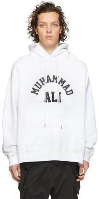 Marcelo Burlon County of Milan White Muhammad Ali Edition Ali Square Hoodie