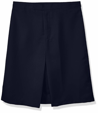 French Toast Women's Big Girls' Front-Pleated Skirt with Tabs